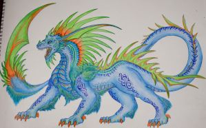 Blue dragon, more detail. by Michelle-xD