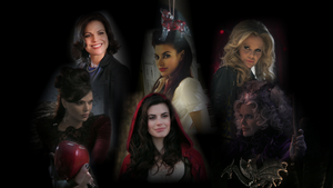 Once Upon A Time - Regina, Ruby, Maleficent wallie by Hellraiser-89