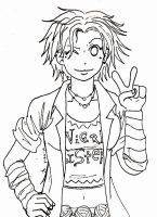 Tonks -lineart- by A-A-Fresca