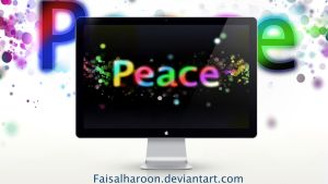 colorful peace by Faisalharoon