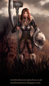 Female Warrior by Mick2006