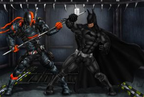 Batman Arkham Origins Deathstroke Fanart by Tycony23