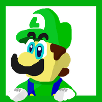 Luigi in a Frame Thing (Maybe In Progress) by GamingDylan