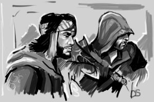 ezio and yusuf by AndyAlbarn