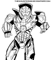 Pacific Rim: Gipsy Danger Lineart by TheXHunter08
