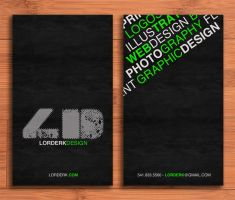 Lorderk Design Business Cards by lorderk