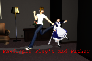MMD Pewdiepie play's Mad Father by 2234083174