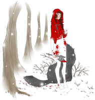 MM: Halloween - Blood Red Riding Hood by Ushimipan