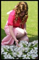 Aerith, Cosplay by Fiftyshadesofkay