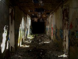 a dark corridor 1 by Nature-of-Decay