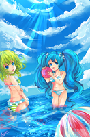 Vocaloid Summer by KyouKaraa