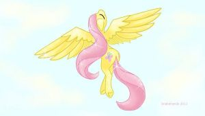 My little pony Fluttershy glides by snakehands