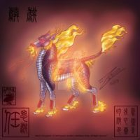 Ming Dynasty Ox-like Qilin by BlackUniGryphon