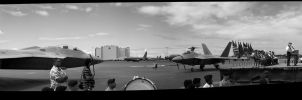 F-22 Raptors at Hickam AFB by gabrielyanagihara