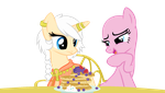 .:Collab:. Are you gonna eat that? by Angel-the-angel