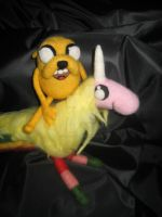 My Needle Felted Lady Rainicorn and Jake by CatsFeltLings