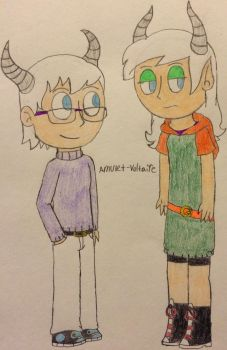 Ms.Keane and Mr.Green Children - Dawn and Wendell by Amulet-Voltaire