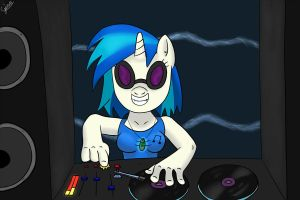 vinyl scratch: Djpon3 by gino456
