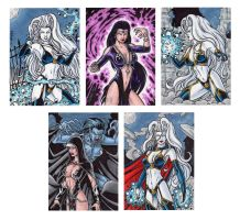 Lady Death Sketch Cards 3 by tonyperna
