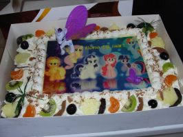My MLP B-day Cake by Ilona-the-Sinister