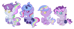 Moonlight shipping foals for PrincessOfTheNight by SugarMoonPonyArtist