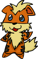 Growlithe by Caninerz