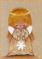 Winter Angel -sketch by Katerina-Art