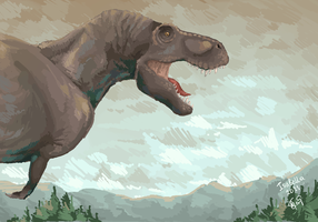 Tyrannosaurus by IsabellaSG