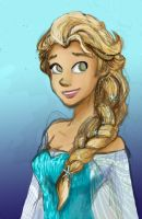 Elle as Elsa by Honeyblossomflower95