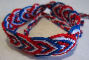 USA Leaves Friendship Bracelet by cadillacphunque
