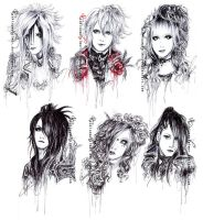 Versailles pen sketches by HoshisamaValmor