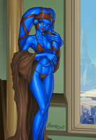 Aayla Glam Shot by FoxxFireArt