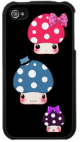 Kawaii mushrooms Iphone case by BunnyAndI