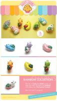 .Rainbow caterpillar charms. by AllendisI