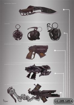 Weapon concept for Celistic by ancientfear
