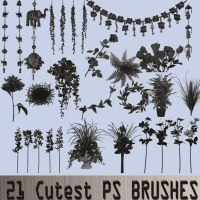 FREE PS BRUSHES - SUPER DECORATIVE- FLOWERS-VINES by TheArtist100