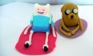 Finn The Human and Jake The Dog Cake Toppers by RavenEnergy