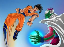 Dragon Ball: Goku and Piccolo by Pepius