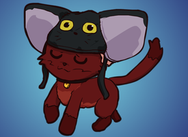 A cat with a hat by radstylix