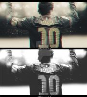 Messi Wallpaper and BW by ManiaGraphic