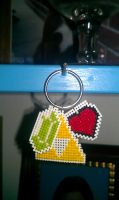 Zelda cross stitch keyring by moonprincessluna