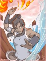 Korra Power of The 4 Elements by SolKorra