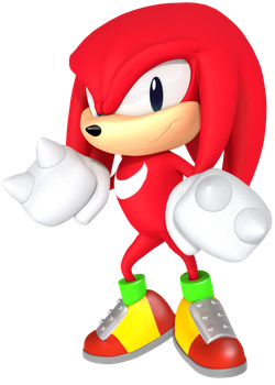 Classic Knuckles from the Sonic Mania Poster by JaysonJean