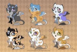 [Closed] Adoptables: Baby Gryphons 2 by MySweetQueen