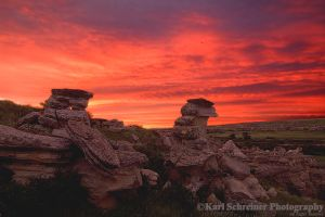 Writing On Stone Sunrise by KSPhotographic