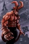 Hellboy, colored by RyanOttley