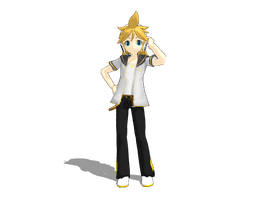 MMD Len Casual DL by ConyOtakuGamer