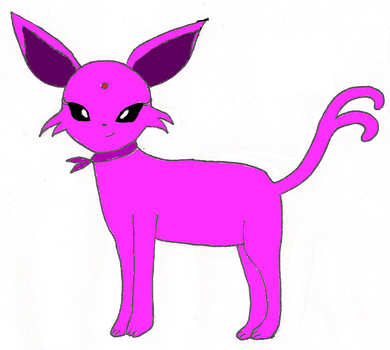 Claree the Espeon-For EeveelutionRainbow by shyviolet34