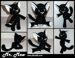 Mr Mew Plushie by Fiendle