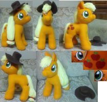 Applejack Plush with Hat by mousenet
